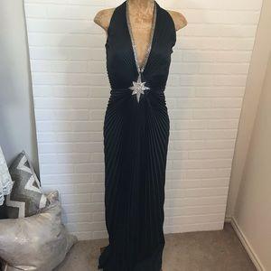 Vintage Lillie Rubin 70s Bombshell Halter Gown 6